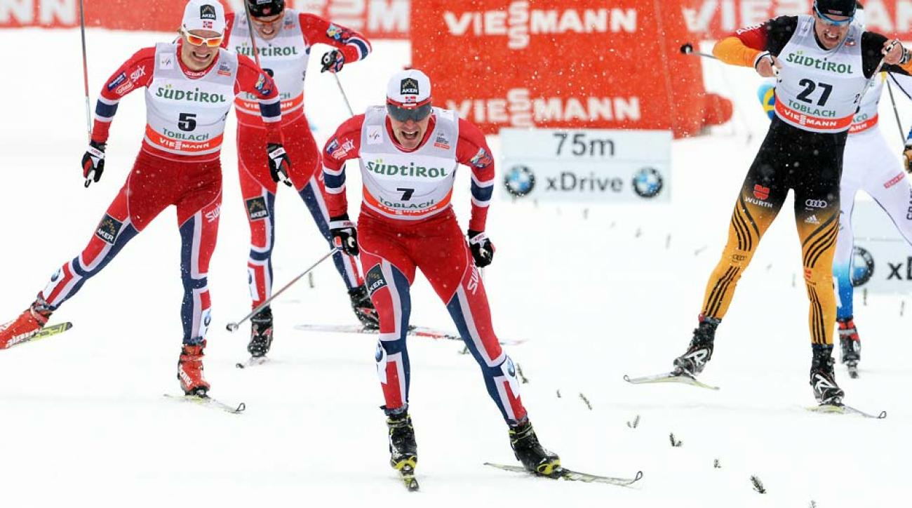 Norway did some last-minute roster shuffling to make room for cross country world champion Ola Vigen Hattestad (center).