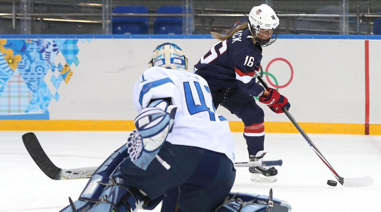 Kelli Stack and the U.S. peppered Finnish goalie Noora Raty with 43 shots in a dominating win.