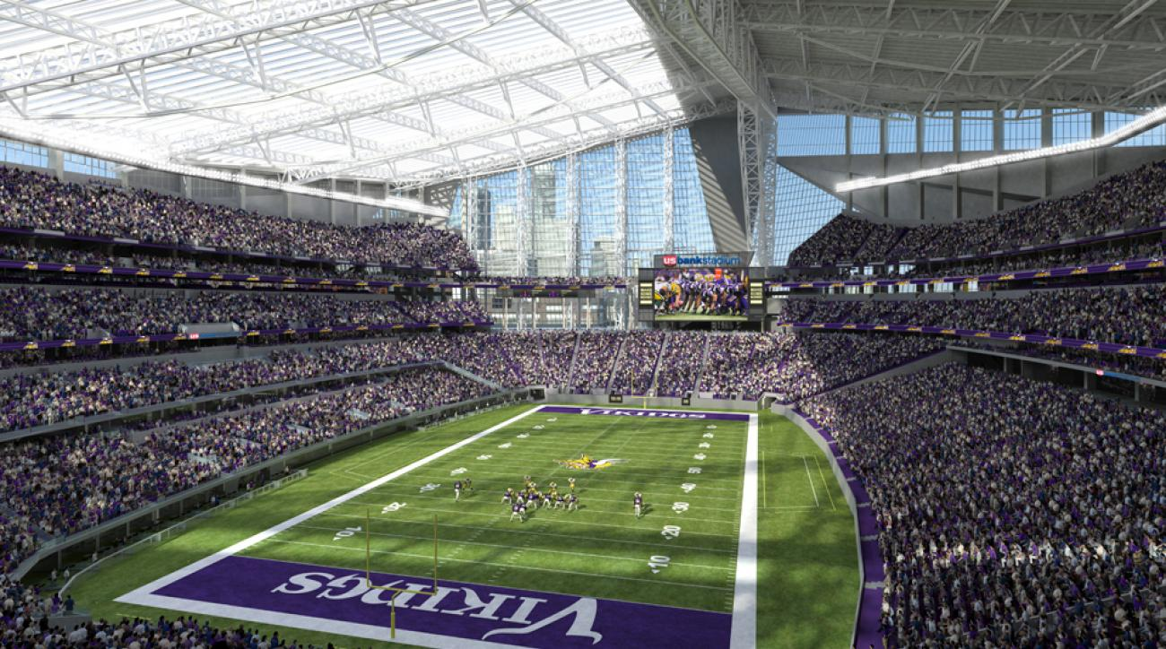 U S Bank Stadium Vikings New Stadium Boasts New