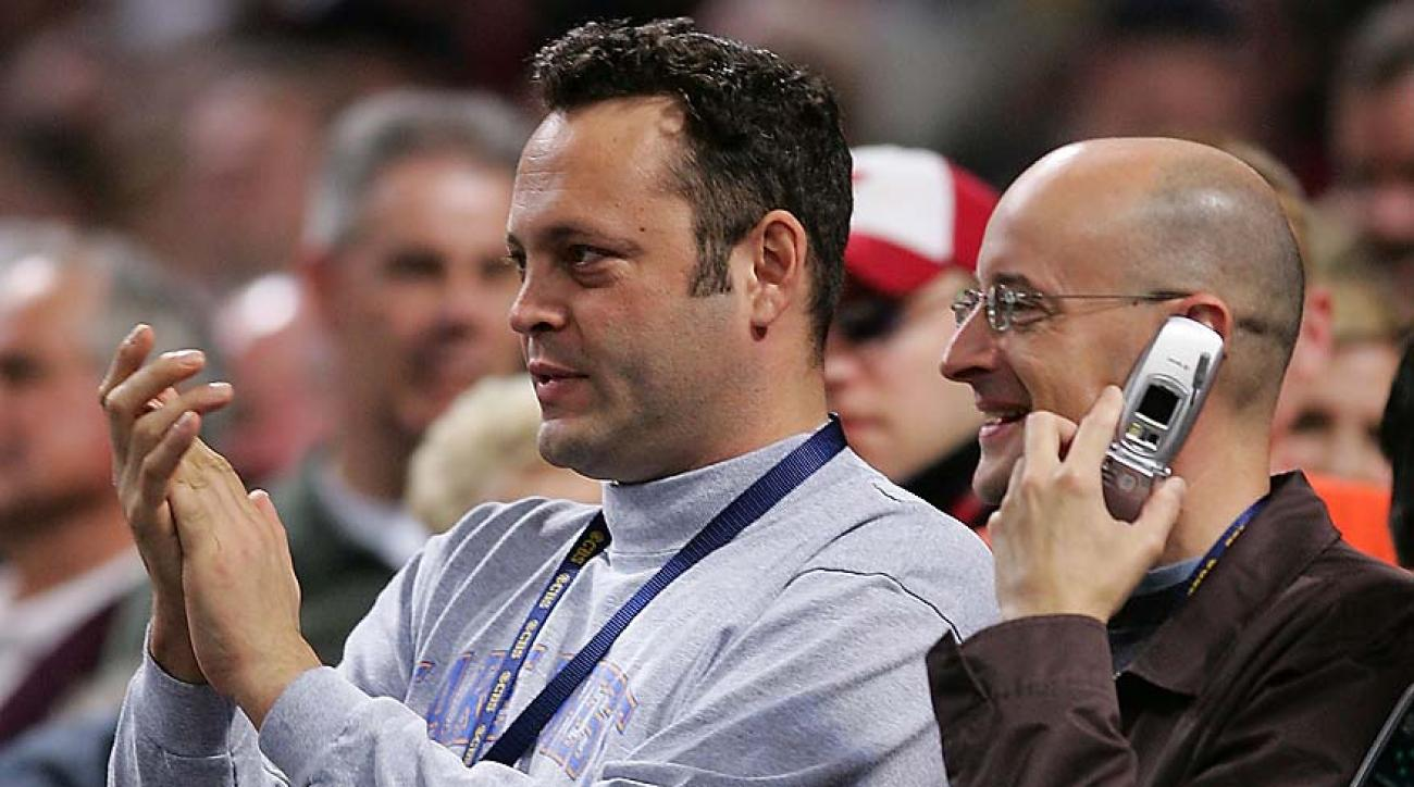 Vince Vaughn at the Louisville-Illinois national semifinal in 2005 at the Edward Jones Dome in St. Louis.