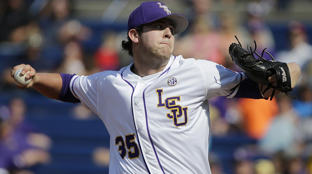 Alex Lange went 10–0 with a 2.11 ERA and 91 strikeouts in 81 innings for LSU, which is the No. 2 overall team in the tournament.
