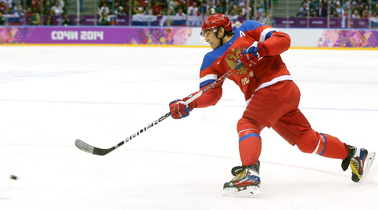 Alexander Ovechkin scored 1:17 into the game to get Russia's offense going and added an assist later in the 5-2 victory.