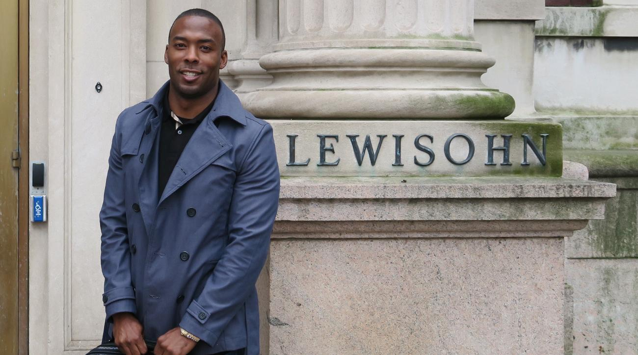 Browns receiver Andrew Hawkins on the campus of Columbia University.
