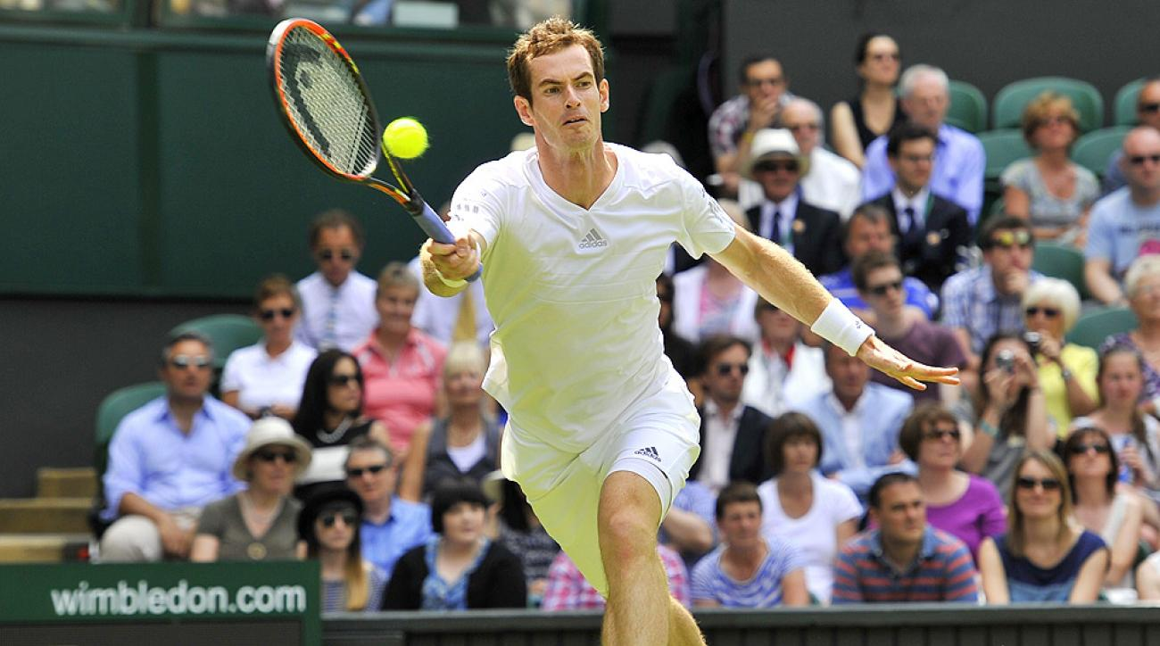 Andy Murray cruised to a comfortable 6-1, 6-4, 7-5 win against Belgian David Goffin in the opening round at Wimbledon.