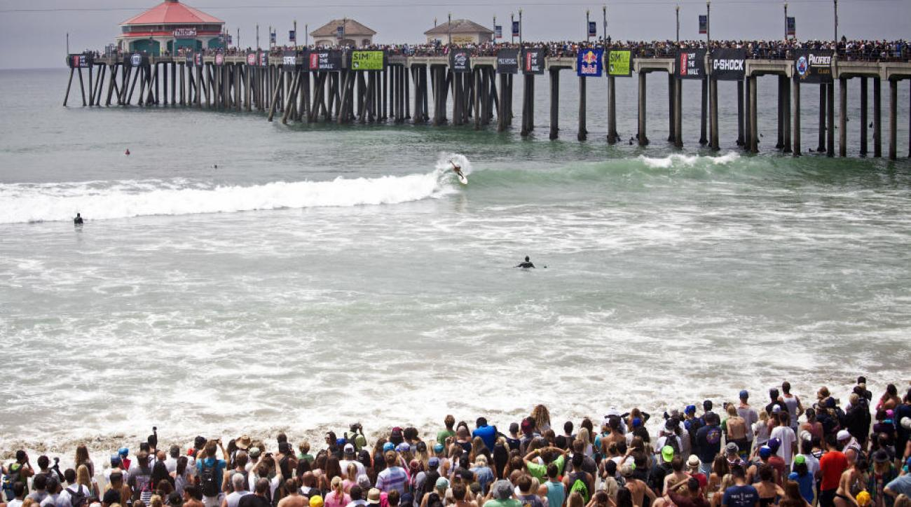 The Huntington Beach Pier provides a stadium atmosphere, making the Vans US Open one of the world's most unique contests.