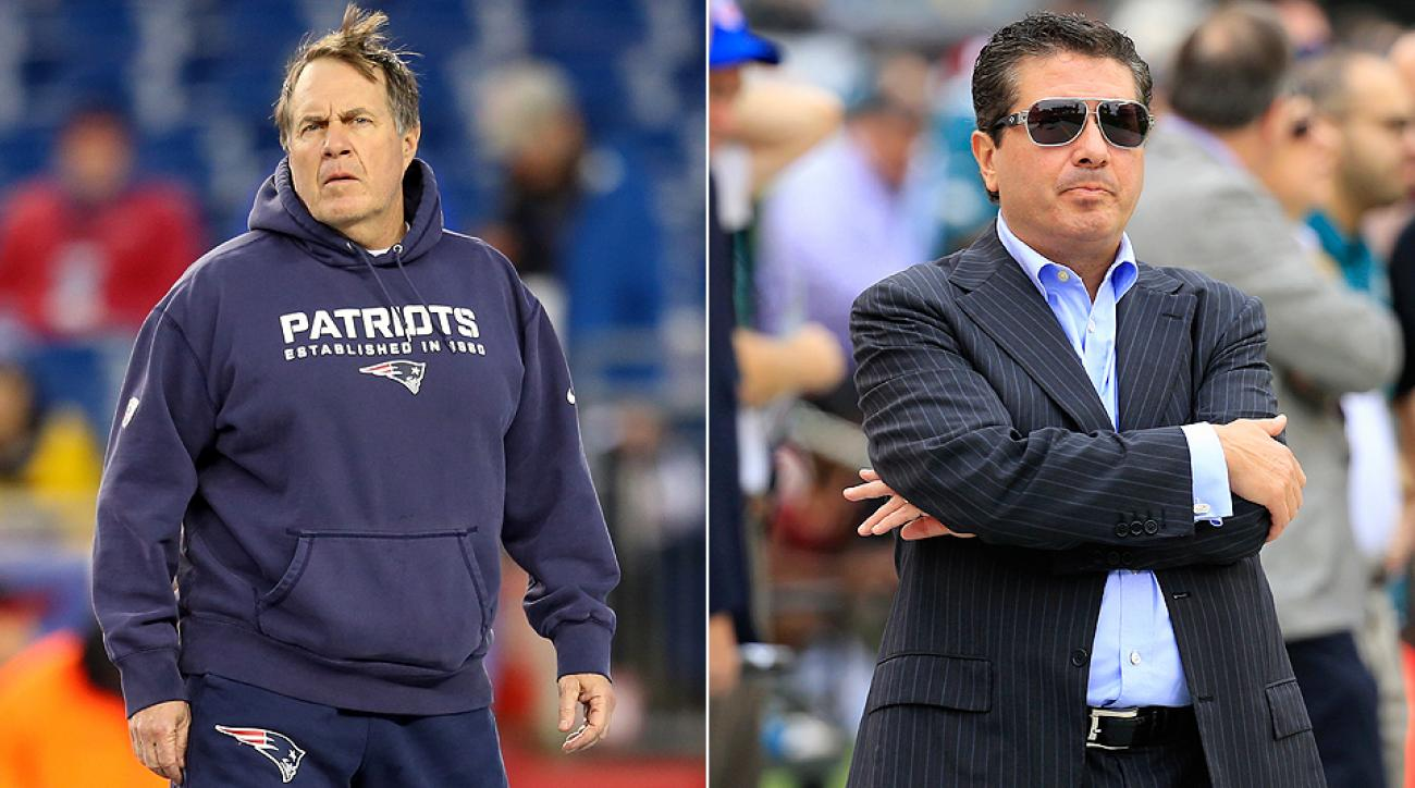 Patriots coach Bill Belichick and Redskins owner Dan Snyder