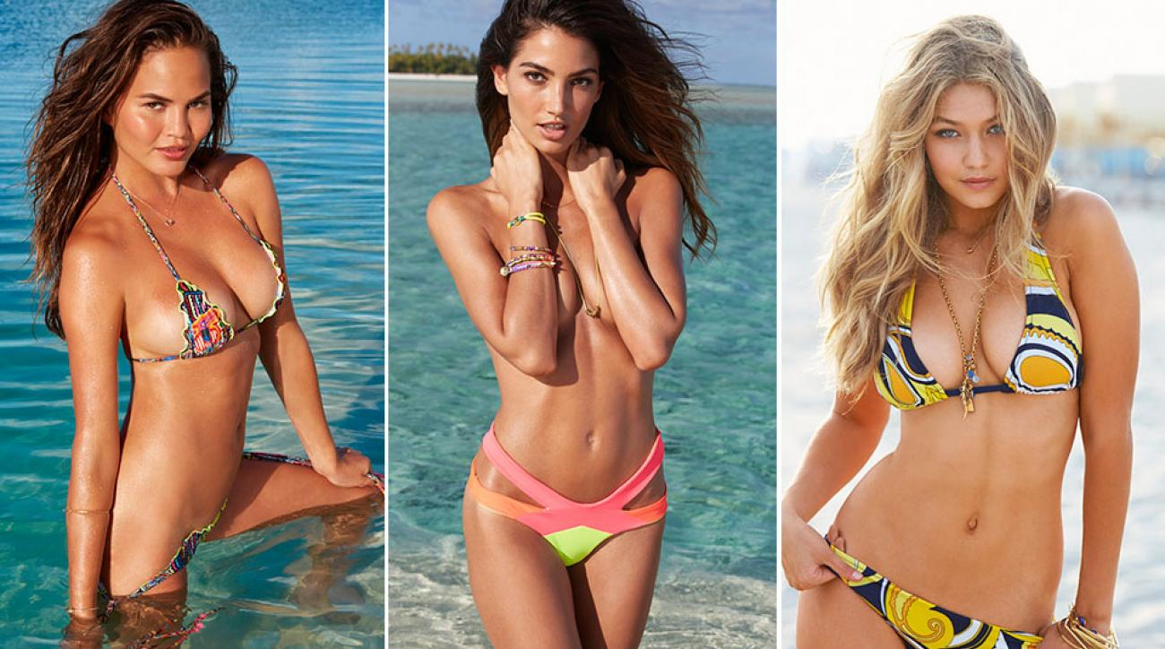 Chrissy Teigen, Lily Aldridge & Gigi Hadid, SI Swimsuit 2014
