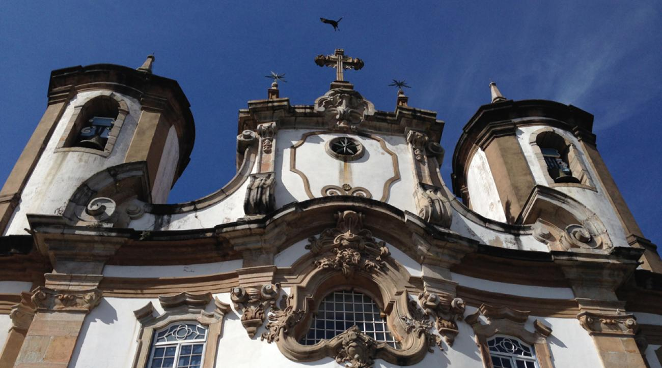 Ouro Preto is a city of history and tradition, built in a baroque, colonial style — the streets cobblestone, the churches Catholic and ornate and decorated with angels and silver candlesticks the size of baseball bats.