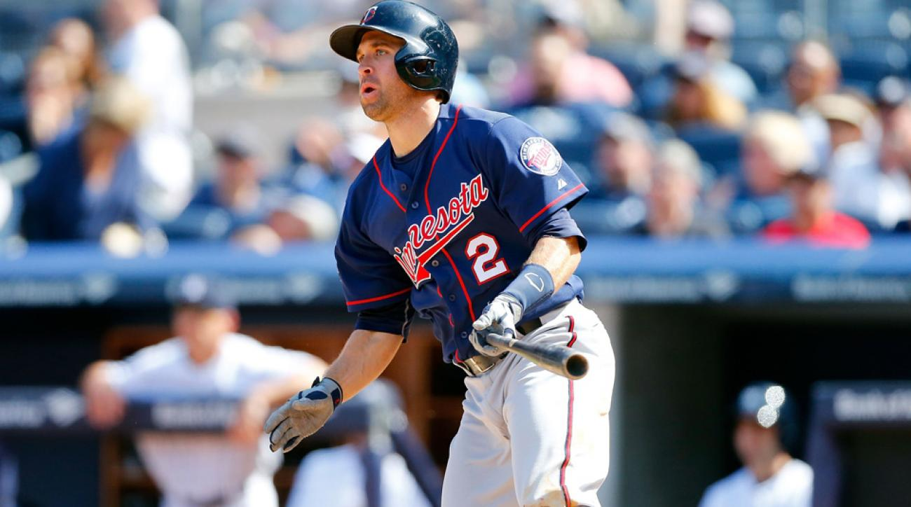 Brian Dozier is leading the Twins in home runs and steals this season, with 15 apiece.