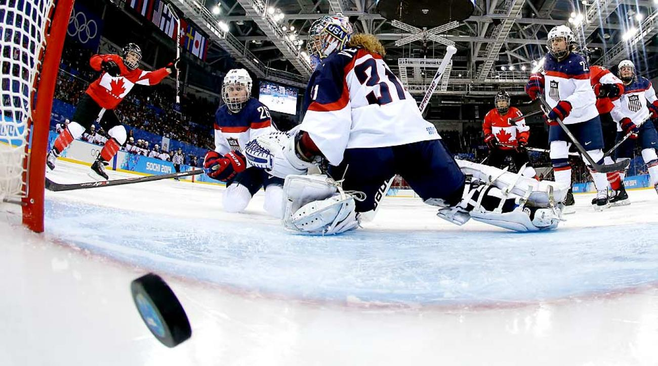 Meghan Agosta-Marciano ensured her 27th birthday was a celebration, scoring twice with one assist in Canada's 3-2 win over the U.S. in group play.