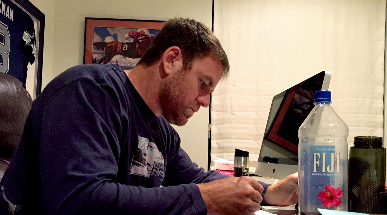 Once the game plan turns up in his inbox on Tuesday, Palmer sets down to a serious study session in his office at home in Paradise Valley.