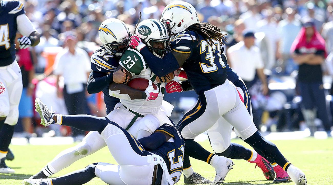 NFL Week 5 Sour Rankings: CBS gives up on Jets-Chargers, Dee Ford's really confused