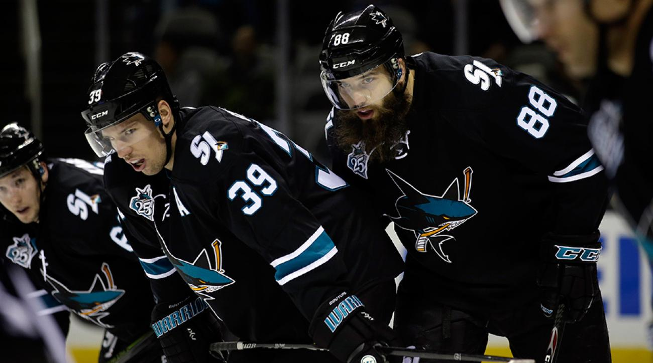 San Jose Sharks Brent Burns Is Lucky And Charmed  Sicom-7709