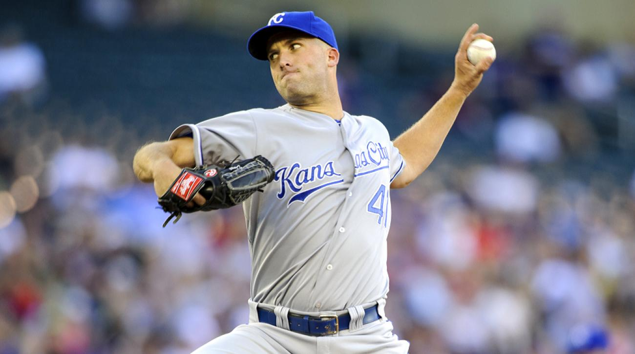 Danny Duffy has been aggressive with his fastball as of late, which helped him to a win in Minnesota on June 30.
