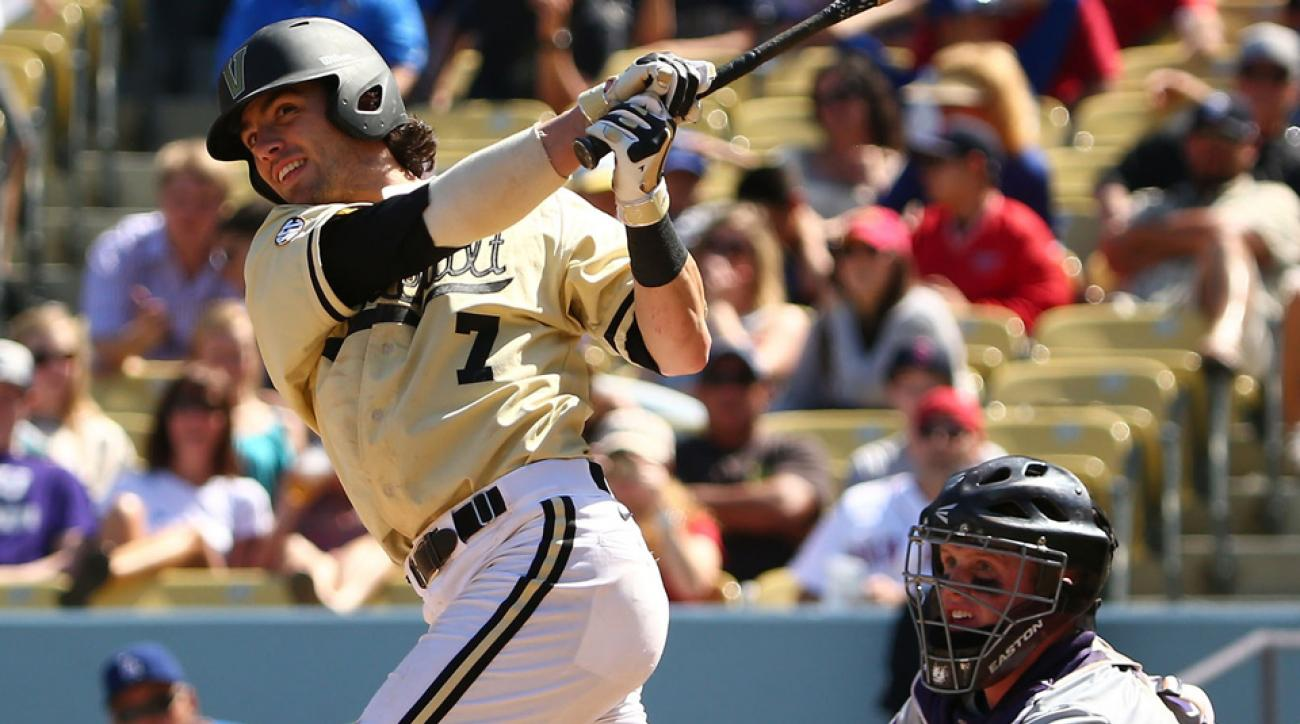 Vanderbilt shortstop Dansby Swanson is hitting .350/.438/.654 with 13 home runs in his junior season for the Commodores.
