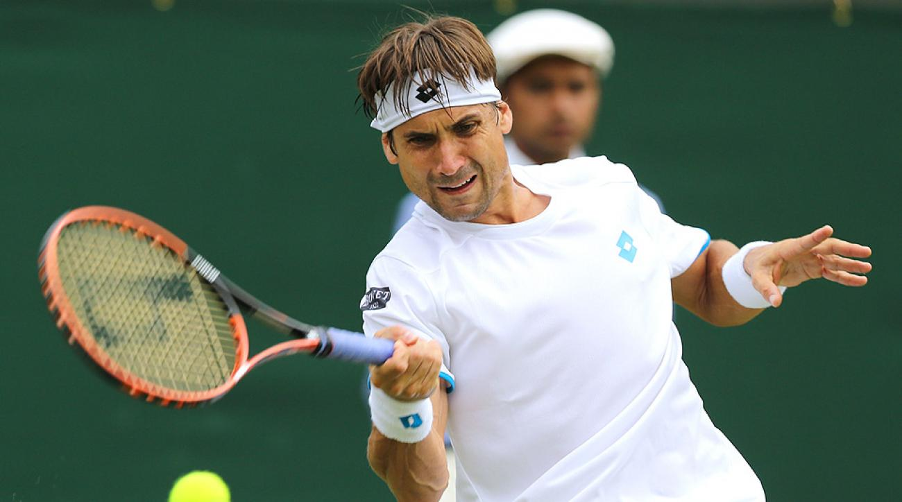 After suffering from a stomach illness last week, David Ferrer couldn't hang on against Andrey Kuznetsov in the second round at Wimbledon.