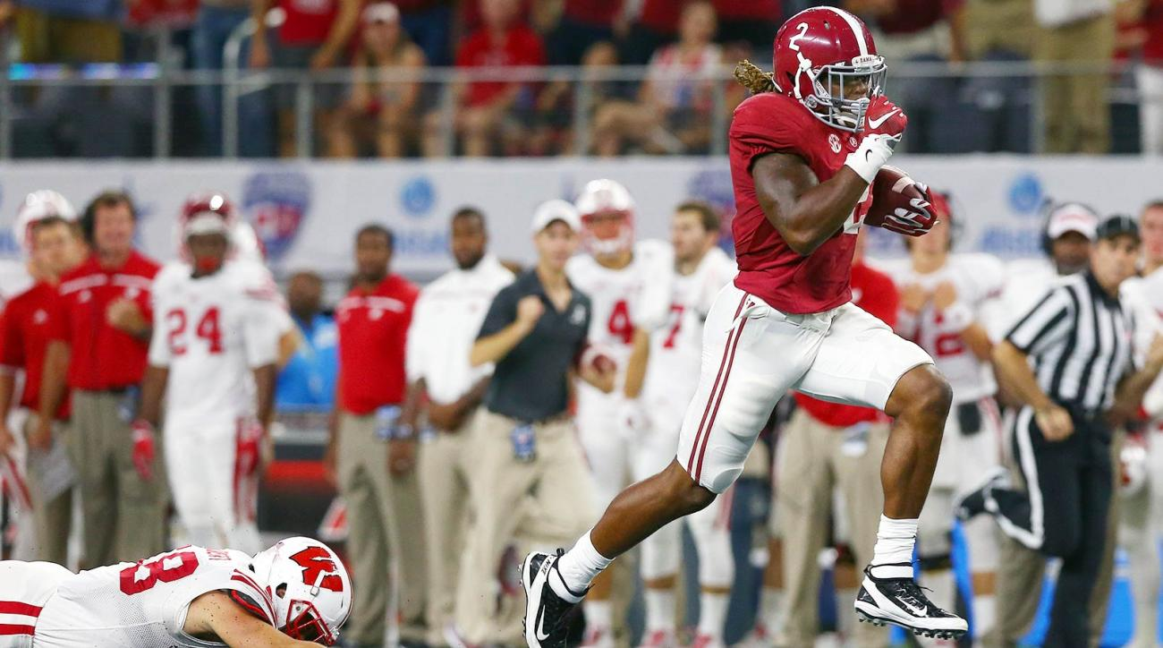 Alabama 35, Wisconsin 17: Derrick Henry steamrolled the Badgers for 147 yards on 13 carries with three touchdowns as the Crimson Tide kicked off the season with a win in Arlington, Texas.