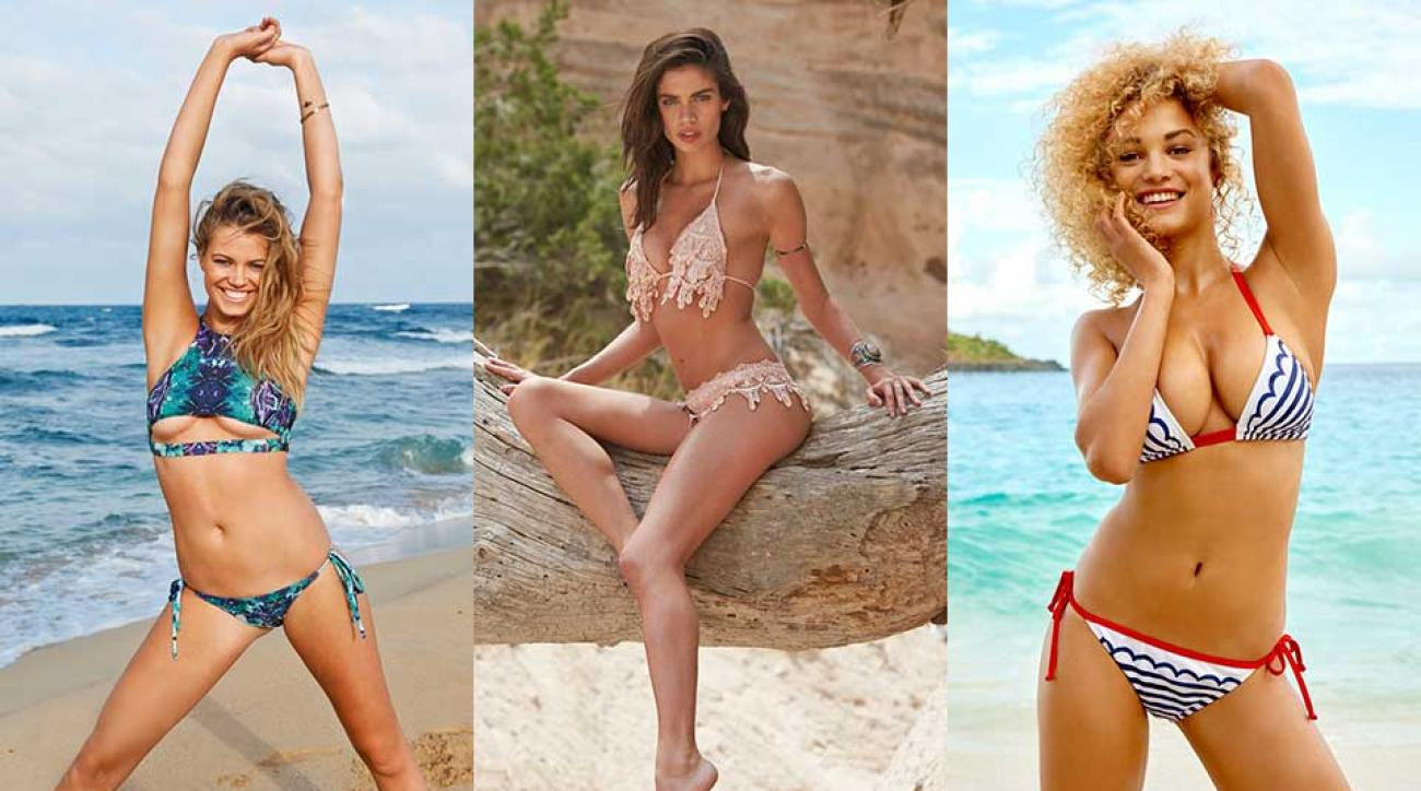 Hailey Clauson, Sara Sampaio and Rose Bertram, SI Swimsuit 2015
