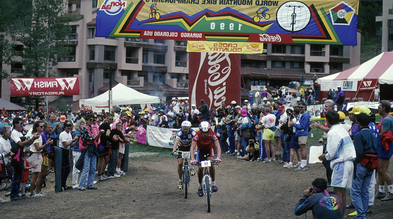 The inaugural UCI Mountain Bike World Championships in 1990 in Durango, Colo.