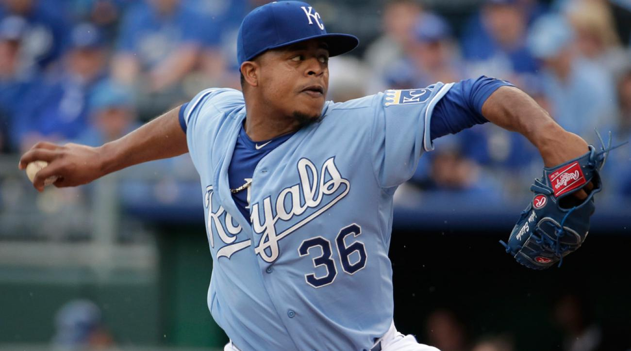 Signed in the off-season to a two-year deal, Edinson Volquez has a 2.74 ERA for the Royals in 49 1/3 innings.