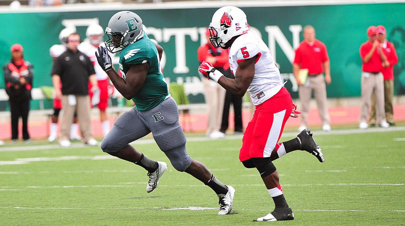 Eastern Michigan announced plans to install gray turf at Rynearson Stadium heading into the 2014 season.