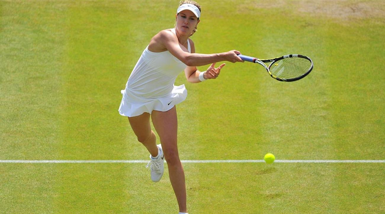 Eugenie Bouchard is the only WTA player to make the semifinals of this year's first three Grand Slam tournaments.