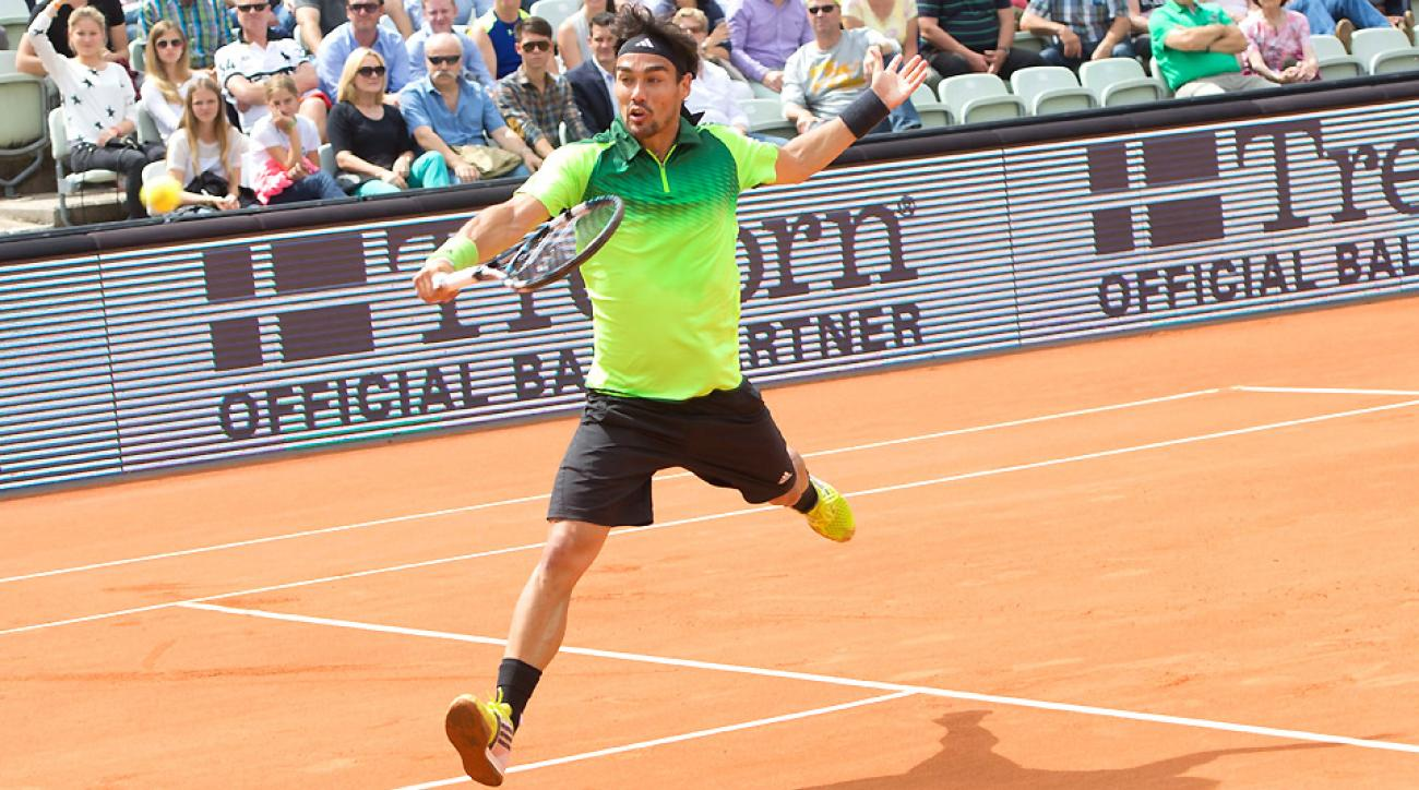 Fabio Fogninin lost 6-4, 6-0 against Filip Krajinovic at the bet-at-home Open in Hamburg.
