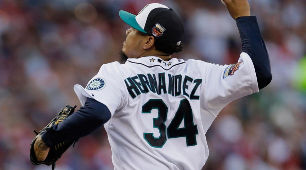 Felix Hernandez's 2.12 ERA, 0.90 WHIP and 177 ERA+ are all the top marks among starting pitchers in the American League.