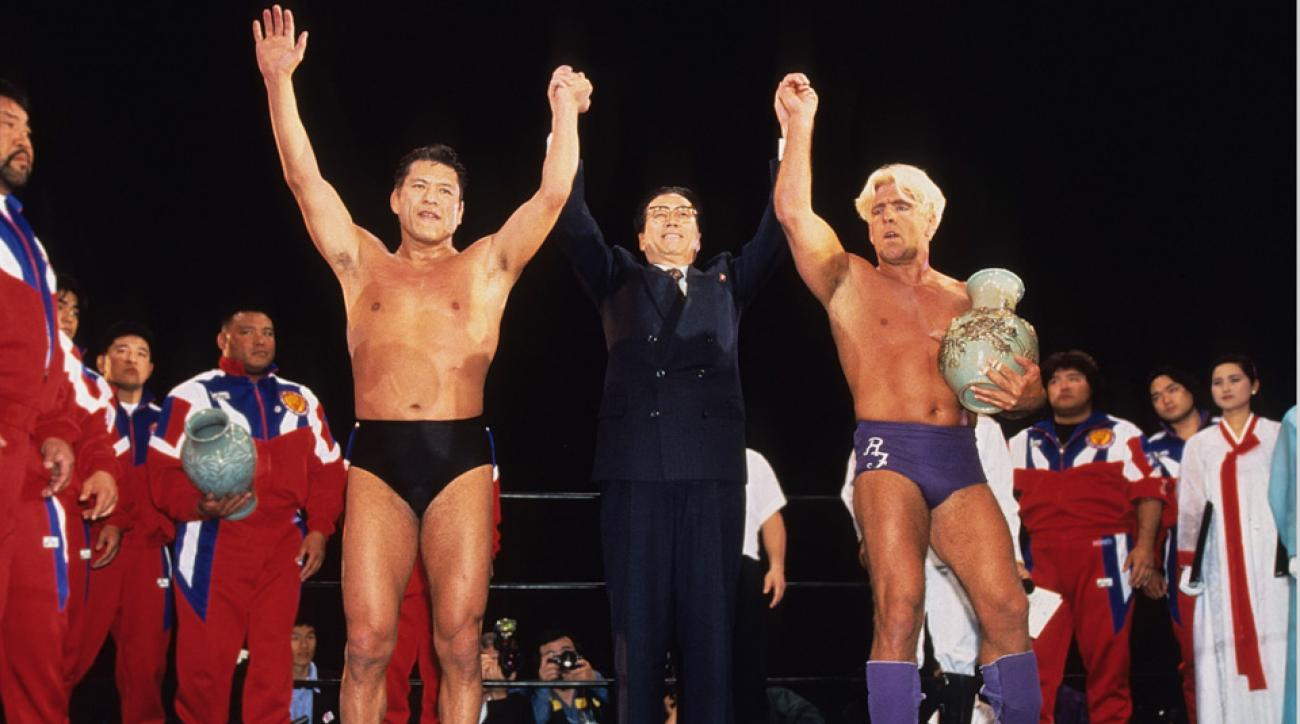 Antonio Inoki and Ric Flair