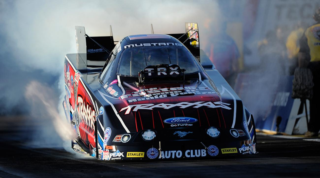Courtney Force, the winningest female driver in Funny car history.