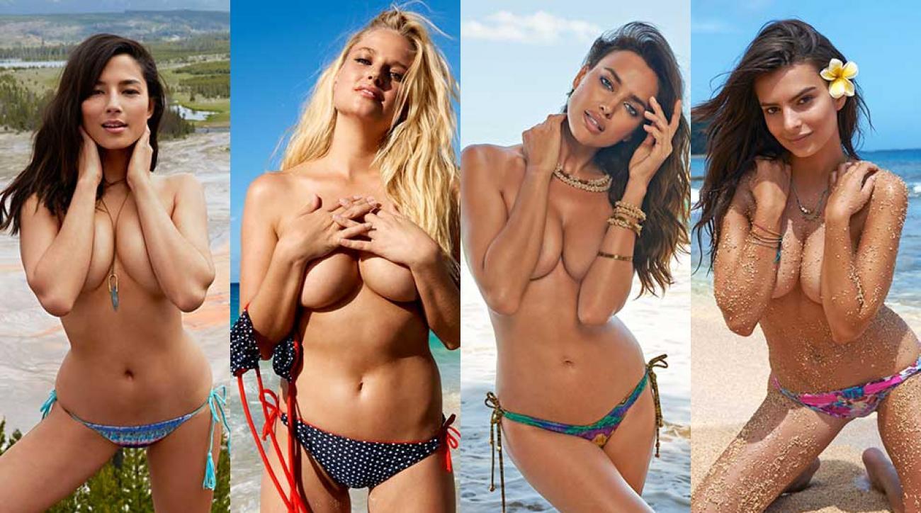 Jessica Gomes, Genevieve Morton, Irina Shayk and Emily Ratajkowski, SI Swimsuit 2015