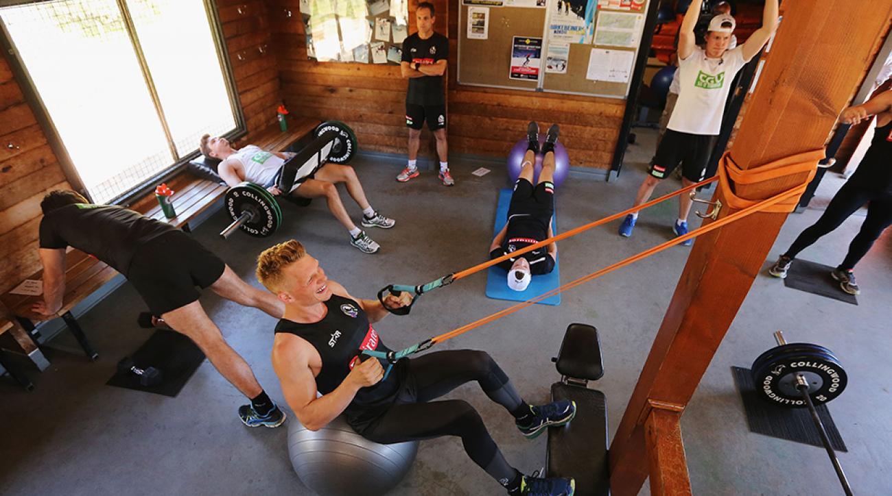 Circuit training at Falls Creek in Australia.