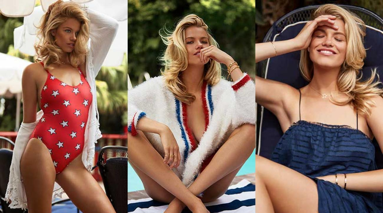 Hailey Clauson embodies American beauty for Revolve Clothing