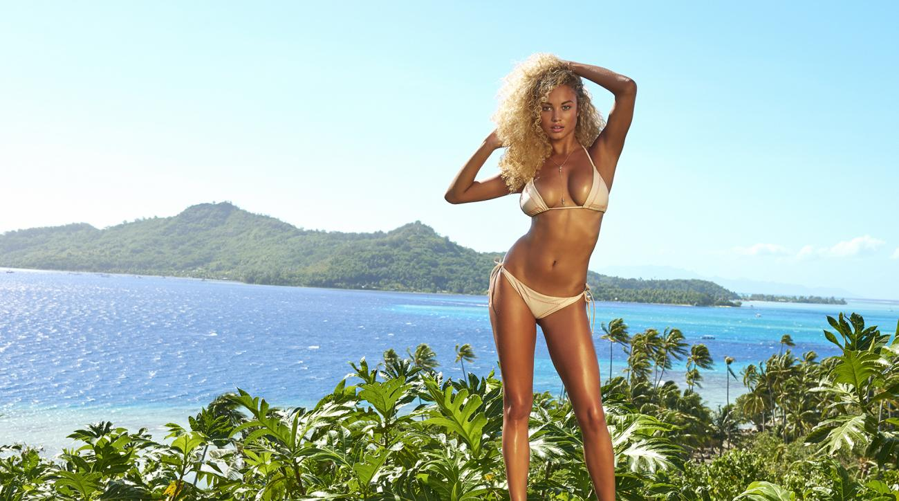 Rose Bertram was photographed by Yu Tsai in the Islands of Tahiti. Swimsuit by Lolli Swim.