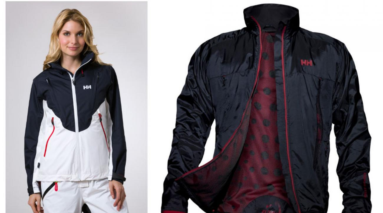 "Helly Hansen's heat flow technology has punched holes in traditional insulation concept and added ""air flow ports"" strategically on their coats' exteriors to let individuals decide just how hot they want to get."