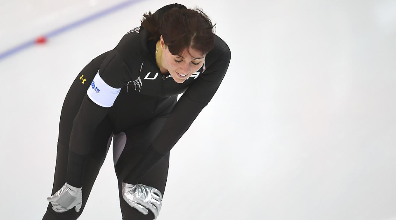 Heather Richardson, expected to finish first or second along with teammate Brittany Bowe, instead settled for seventh while Bowe limped in at eighth.
