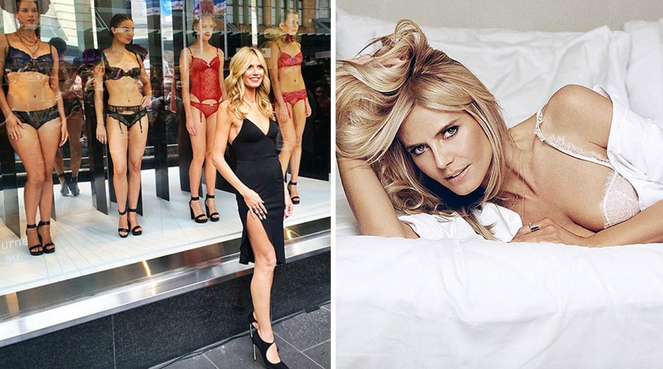 Heidi Klum launches her new lingerie line in Australia