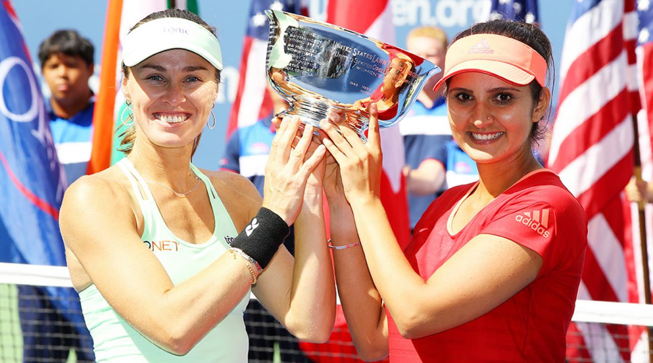 US Open 2015: Martina Hingis wins fifth doubles title of