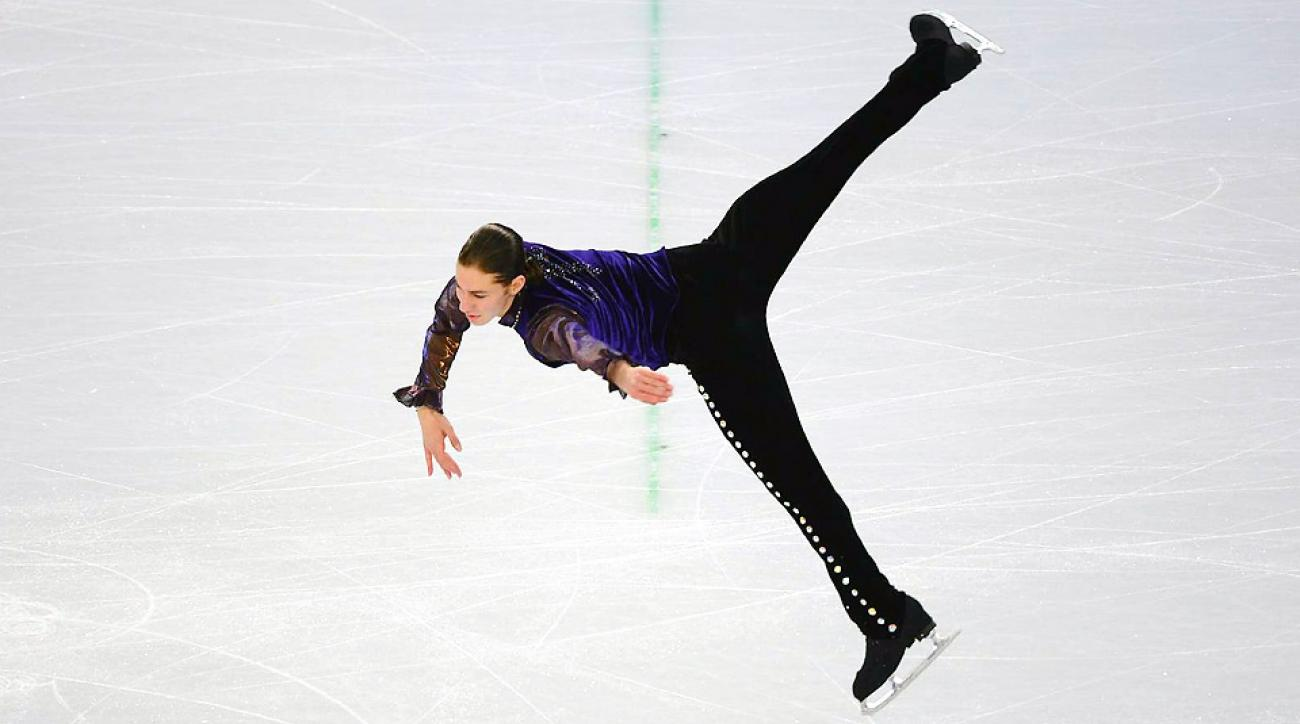 American Jason Brown sat in sixth in men's figure skating after the short program with the free skate still to come Friday.