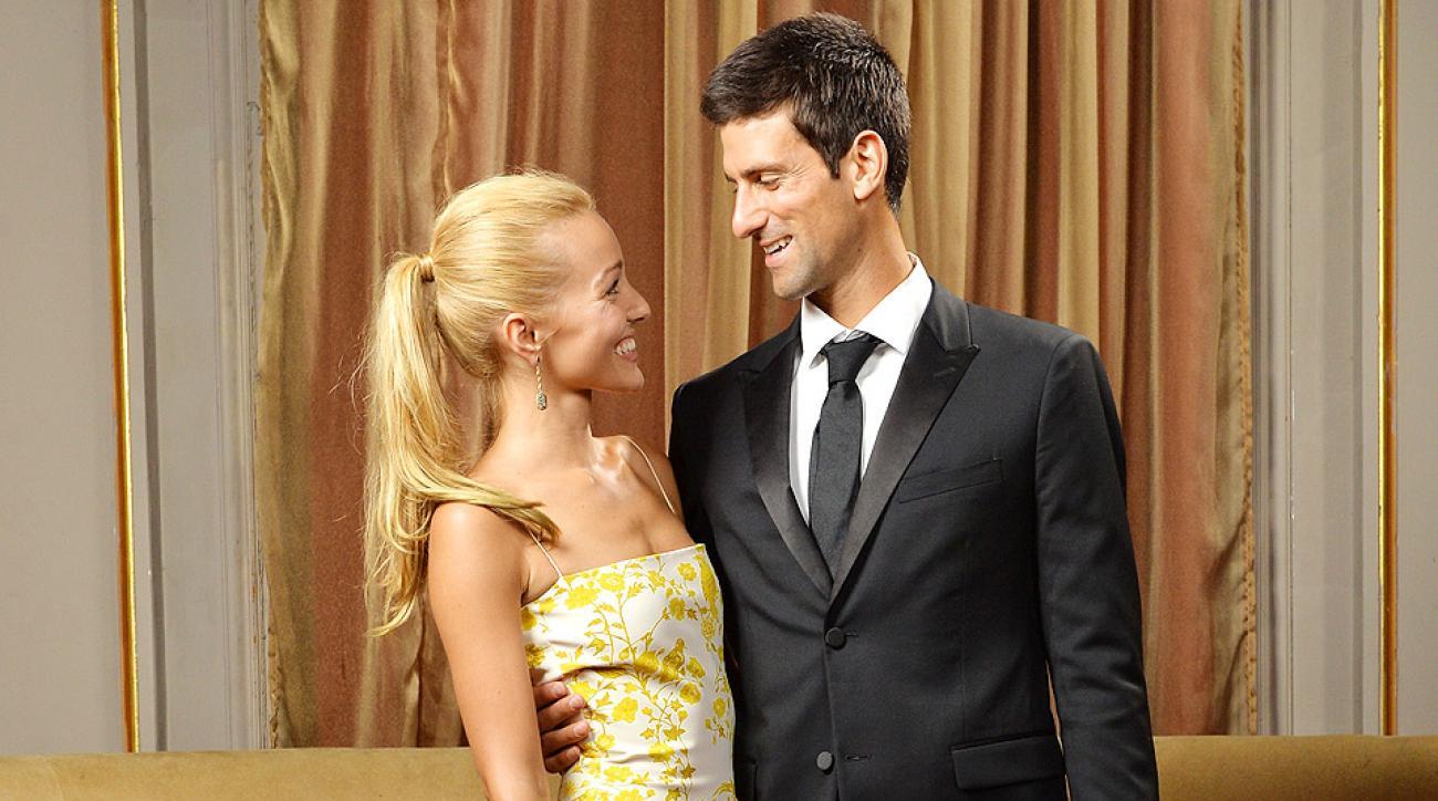 wimbledon champion novak djokovic weds longtime