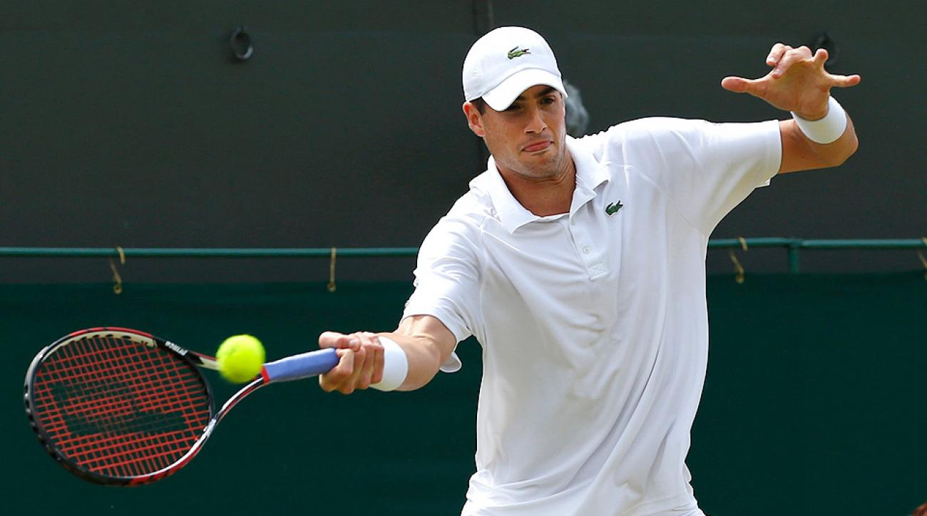 John Isner was the last American remaining in the Wimbledon draw after Madison Keys withdrew from her third-round match with an injury.