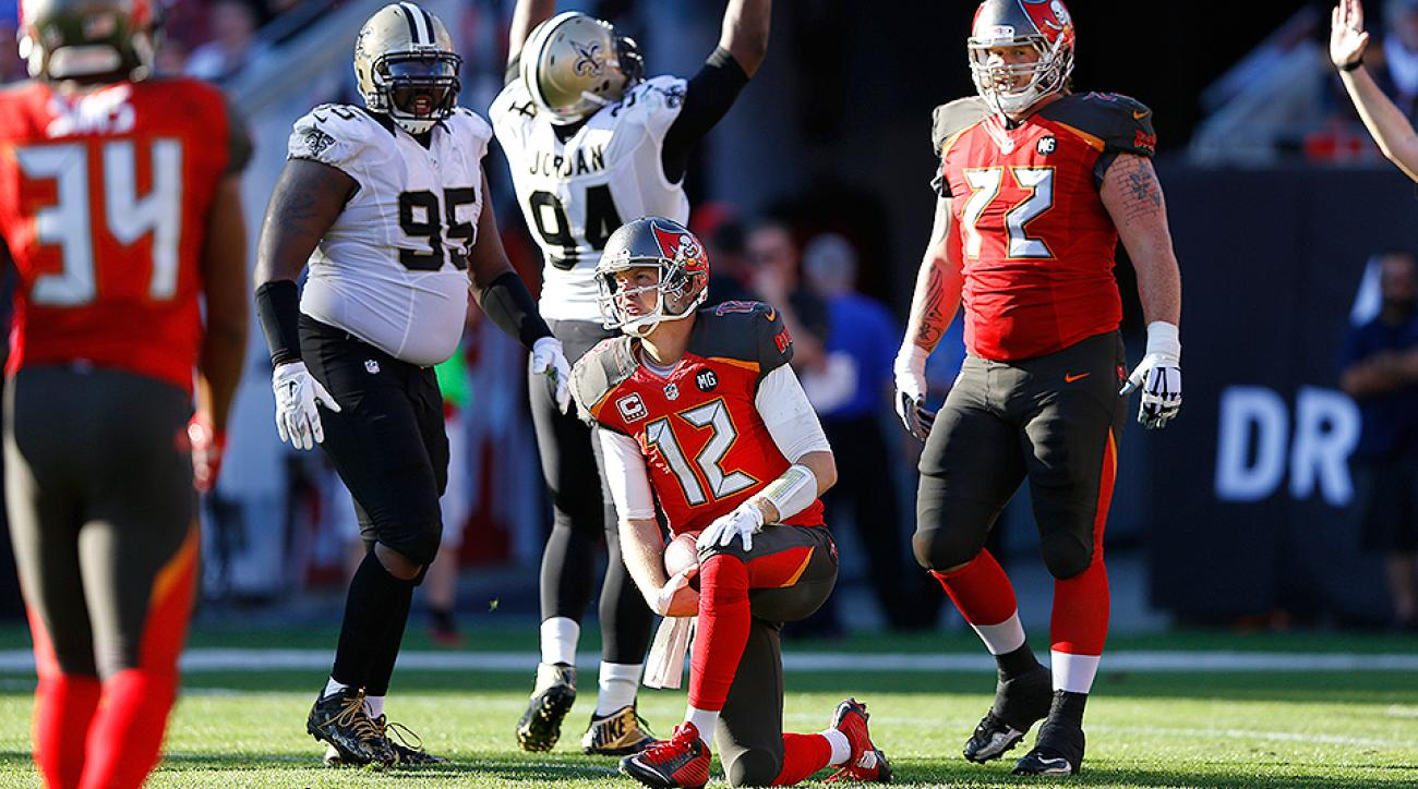 In the final game of the 2014 season, the Buccaneers blew a 13-point lead to the Saints to clinch the No. 1 draft pick.