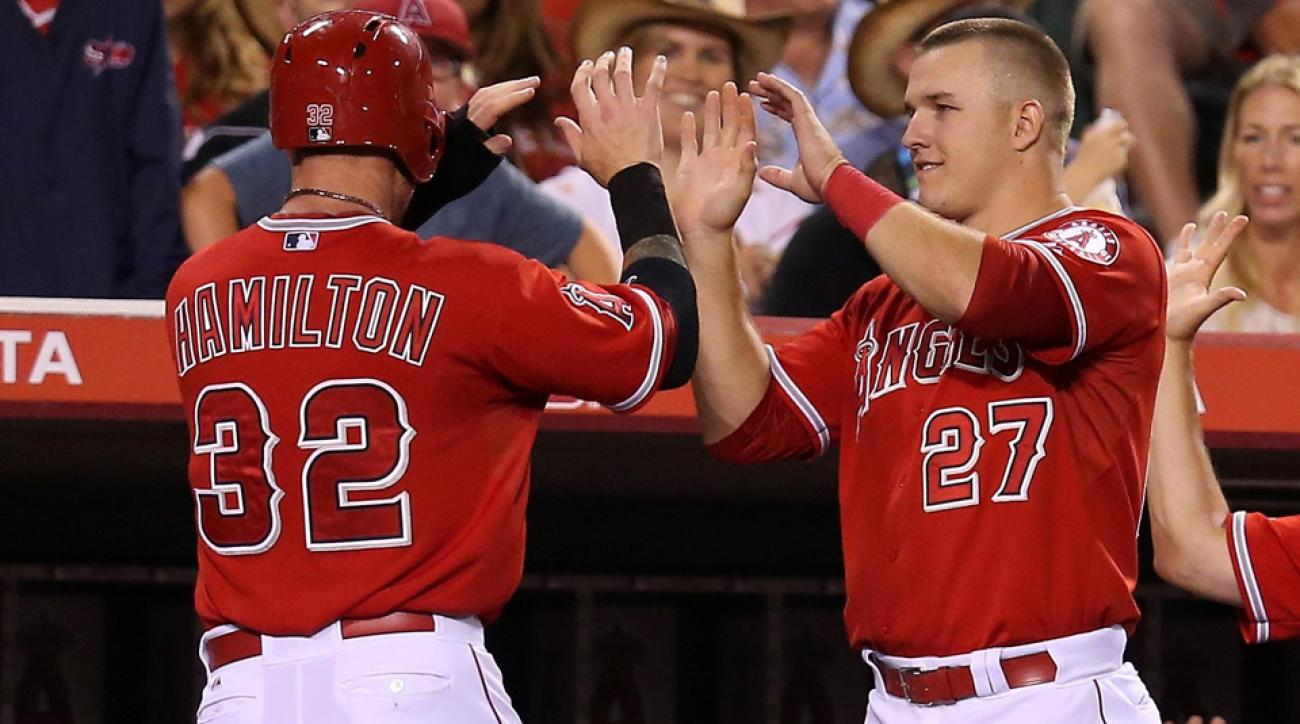 Josh Hamilton's return from a thumb injury that cost him 48 games has helped pick up Mike Trout and the rest of the Angels' offense.