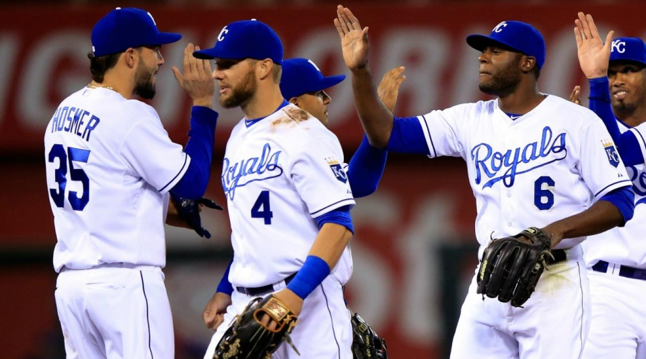 Eric Hosmer, Alex Gordon (4) and Lorenzo Cain (6) are all holding down starting spots on this year's AL All-Star team.