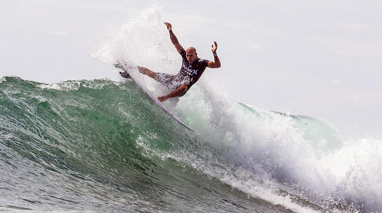 Kelly Slater competes in the Hurley Pro at Trestles.
