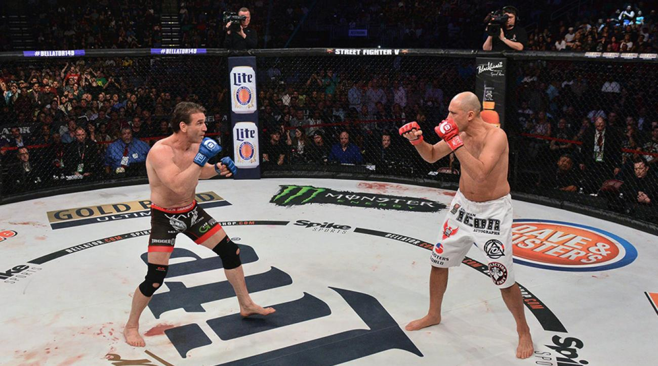 Ken Shamrock and Royce Gracie face off at Bellator 149.