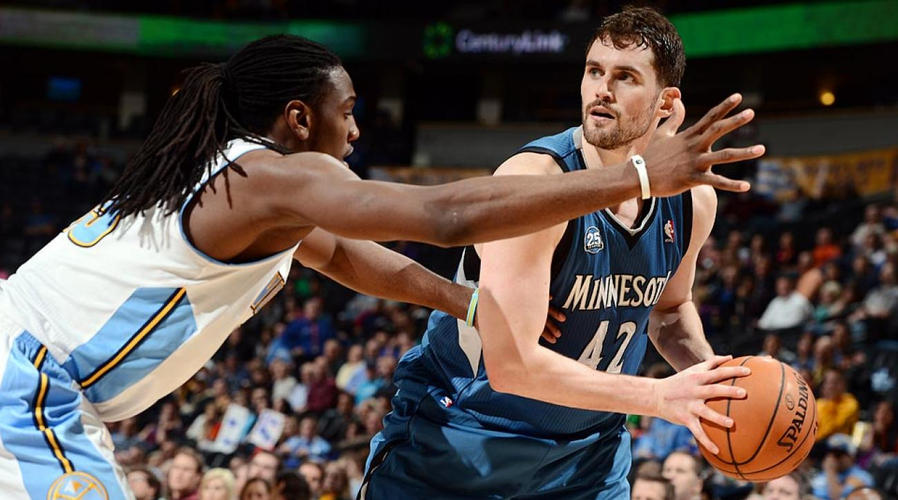 Three-time All-Star power forward Kevin Love averaged 26.1 points and 12.5 rebounds for the Timberwolves last season.