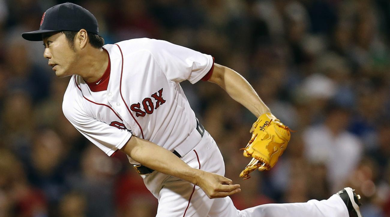 Koji Uehara has 20 saves in 45 2/3 innings for the Red Sox, with eight earned runs allowed, six homers and six walks against 59 strikeouts.
