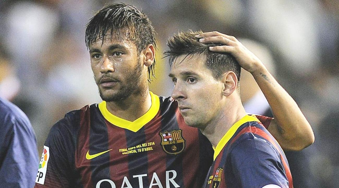 After a season of creating goals together at Barcelona, Neymar (left) and Lionel Messi will battle in Brazil for scoring supremacy.