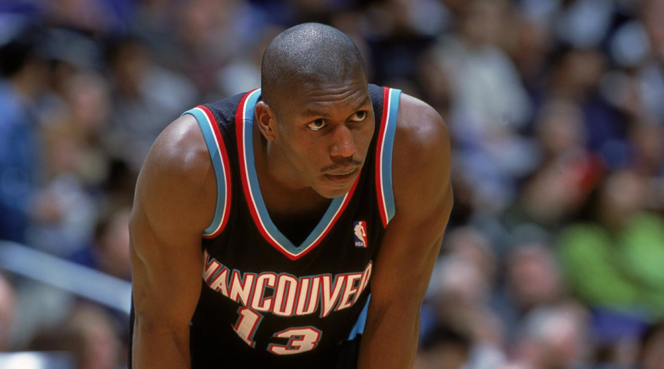 Felipe Lopez of the Vancouver Grizzlies looks on from the court during a game against the Los Angeles Clippers at the Staples Center in Los Angeles, California in 2000.